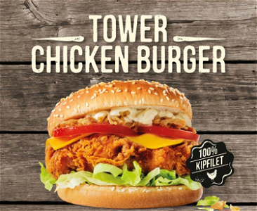 Foto Tower Chicken Burger